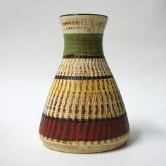 Dumler and Breiden Terra 127-10 pottery vase West German retro Mid-century D&B