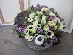 a lovely arrangement by twig and twine for la tivola linen