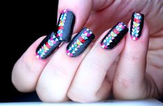 Polish All the Nails: Aztec Nails! That are Rainbow! And Don't Involve Whole Rolls of Striping Tape!