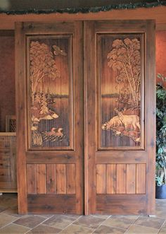 33 Inspiring Carved Wood Doors Design Ideas - Custom wood doors, whether elegant or rustic, are a durable choice that can really set off the style of your home. With the latest custom exterior doo. Custom Exterior Doors, Custom Wood Doors, Wood Exterior Door, Wooden Doors, Rustic Doors, Wooden Art, Wooden Front Door Design, Wood Front Doors, Entry Doors