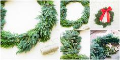 Corona de Navidad diy : via La Chimenea de las Hadas