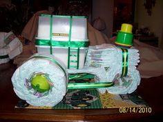 John Deer diaper tractor #babyshower