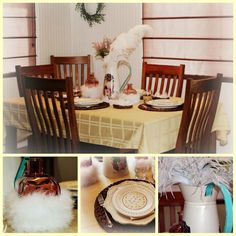 feather nest Easter spring table