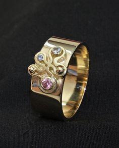 Gouden ring met edelstenen #goudsmid #goudsmidmargriet