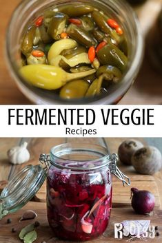 Preserve your summer garden vegetables the healthy and easy way with fermentation at home. Get our curated recipes for healthy salsa, beets, beans, garlic and more on the blog! Jelly Recipes, Veggie Recipes, Healthy Recipes, Probiotic Foods, Fermented Foods, Fermentation Recipes, Rhubarb And Custard, Salsa Recipe, Mexican Dishes