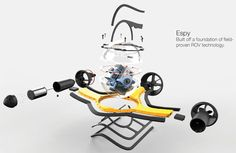 Drone Homemade : Espy 360 ROV Underwater Spy Monitors Marine Environment In More Effective an Drone App, New Drone, Drone Quadcopter, Underwater Drone, Latest Drone, Small Drones, Pilot, Flying Drones
