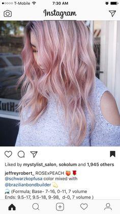 Schwarzkopf Color, Schwarzkopf Hair, Hair Color Formulas, Aveda Color, Hair Toner, Clip In Hair Extensions, Remy Human Hair, Color Correction, Pink Hair