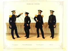 Plate from Regulations for the uniform & dress of the Navy and Marine Corps of the United States Marine Corps Uniforms, Navy Uniforms, Us Marine Corps, Black And White Plates, Uniform Dress, Collar And Cuff, Us Navy, Full Figured, Clothing Items