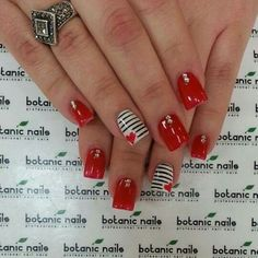 If you want to decor their nails for wedding or party. Here we have collected most cute and pretty nail designs for your next nail art inspiration. Fancy Nails, Love Nails, Red Nails, Pretty Nails, Pink Nail, Black Nails, White Nails, Botanic Nails, Valentine Nail Art