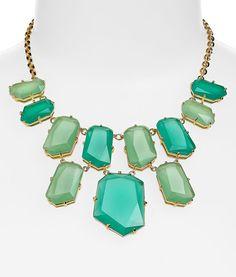 Must Haves: 10 Bright, Bold Bib Necklaces Kate Spade Gemstone Bib Necklace – The Frisky