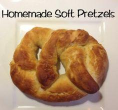 Homemade Soft Pretzels #snacks
