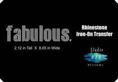 Fabulous Rhinestone Bling Iron-on Transfer Applique - GNO - Girls Night Out  - Bling DIY - Cute Sexy Sassy 4a2efa6b77e7