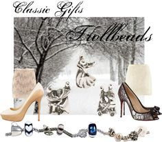 """Winter hues - Classic Black & White"" by mytrollbeads on Polyvore"
