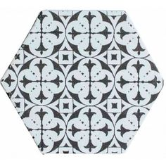 Carrelage mural hexagonal 17 5 x 20 cm d cor makara for Carrelage hexagonal noir mat