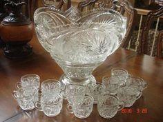 Cut Glass Punch Bowl set | InstAppraisal