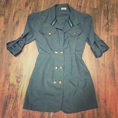 Military Jacket Super cute jacket, sadly a reposh to small, size S/M Jackets & Coats Utility Jackets