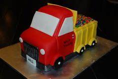 Dump Truck {3D Dump Truck Cake}