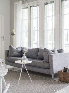 via Talosanomat Couch, Interiors, Decorating, Living Room, Grey, Inspiration, Furniture, Ideas, Home Decor