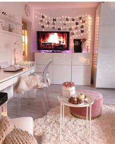 home decor bedroom design Girl Bedroom Designs, Room Ideas Bedroom, Small Room Bedroom, Home Decor Bedroom, Interior Livingroom, Small Rooms, Ikea Interior, Glam Bedroom, Bed Designs