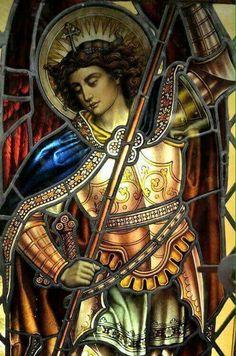 Beloved Archangel Michael, thank you for all you do and for all you are! We love Archangel Michael, we love you! Angels Among Us, Angels And Demons, Catholic Art, Religious Art, Catholic Religion, Archangel Prayers, San Gabriel, Saint Michael, Church Windows