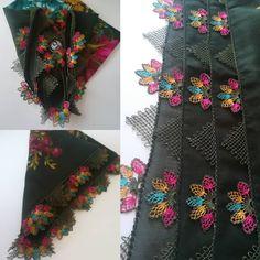 """220 Beğenme, 5 Yorum - Instagram'da Elif sarı..Yalova. ...Rize (@elifsaricepni): """"Selamün aleyküm huzurlu ve saglikli bir hafta sonu geçirmemiz dileğiyle yakın çekim isteyen…"""" Crewel Embroidery, Embroidery Patterns, Floral Tie, Alexander Mcqueen Scarf, Diy And Crafts, Crochet, Model, Bandana, Instagram"""