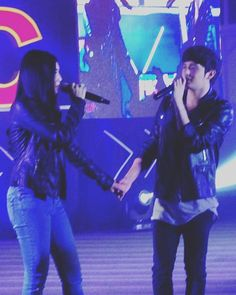 This two always makes the crowd scream. ♥ (c) @anneangelesmd  #JaDine #JamesReid #NadineLustre (K)