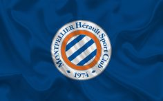 Download wallpapers Montpellier HSC, Football club, emblem, Montpellier logo, France, Ligue 1, football