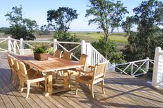 Situated right on the water, the casual back deck from HGTV Dream Home 2004 is the ideal place for entertaining.
