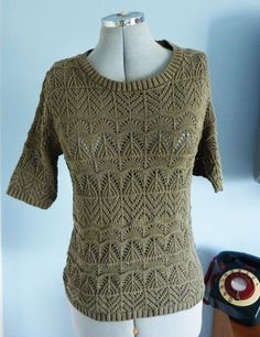 S10 ATMOSPHERE Khaki Olive Green Crochet Top #crochet