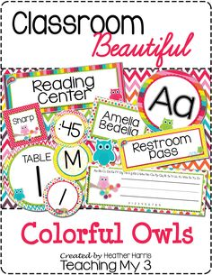 Get your classroom beautiful and organized with this editable colorful set. Bright colors and owls classroom laebls. 223 pages of ready to use labels PLUS you can edit your own using PP. Decorate and organize in style! Owl Classroom Decor, Classroom Labels, Classroom Organisation, Classroom Design, Classroom Themes, Organization, 2nd Grade Classroom, Preschool Classroom, Future Classroom