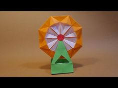 관람차 색종이접기 - OrigamiConfetti Ferris wheel - YouTube