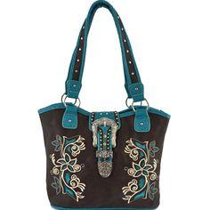 Western Buckle Floral Embroidered Concealed Carry – Handbag-Addict.com