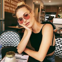 13510945bd Double bridge meets double espresso. Laura shows off eye-catching Gigi For Vogue  Eyewear