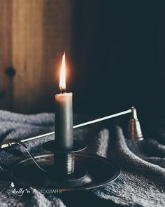"""""""Candlestick 2""""- Burning candle still life print. Fine Art Print. Professionally printed upon order. My photographs are professionally printed with archival inks on premium acid-free paper, which has"""