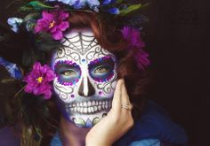 Hope Shots Photography Artist Unique Irish Model Lindsey J. Sugar Skull Face painting