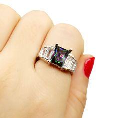 Sz 6-9 Women 925 Silver White Gold Zircon Filled Womens Wedding Engagement Ring  #Unbranded #Wrap #Anniversarywedding