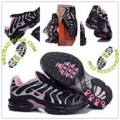 Tendance | Nike Chaussure Sport Air Max Tn Requin Femme Noir Gris Rose