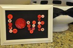 Love button frame for Valentine's