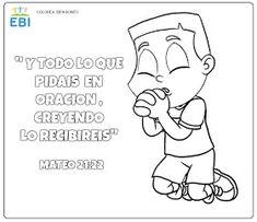 EBI Chile: Actividades; El poder de la Oración Bible Verses For Kids, Sunday School Activities, School Lessons, Bart Simpson, Religion, Education, Children, Ministry, Crafts