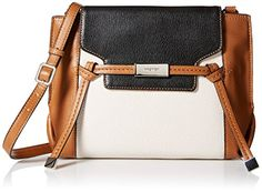 Women's Cross-Body Handbags - Nine West Tied and True Crossbody TobaccoMilkBlackBlack *** Want to know more, click on the image.