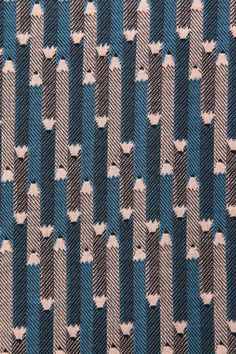 Pencil patterned textile by Sally Scott Art Textile, Textile Prints, Textile Design, Fabric Design, Motifs Textiles, Weaving Textiles, Textile Patterns, Surface Pattern Design, Pattern Art