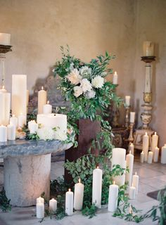 Beautiful wedding decor to fill awkward spaces. Just add candles! Candle Impressions LED flameless candles would be perfect here: you don't have to worry about them knocking over or blowing out in the wind. Mod Wedding, Trendy Wedding, Elegant Wedding, Floral Wedding, Wedding Styles, Rustic Wedding, Wedding Flowers, Church Wedding, Wedding Ceremony Ideas