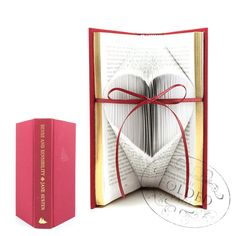 Sense and Sensibility, Jane Austen - Folded Small Heart Upcycled Book Art Sculpture