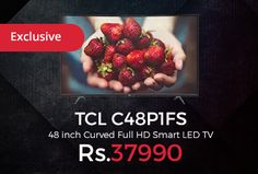 Amazon #Exclusive is offering TCL C48P1FS 48 inch Curved Full #HD Smart #LED #TV Just at Rs.37990. Full HD (Resolution: 1920 x 1080), Refresh rate: 60 Hertz, Connectivity ports: 3 HDMI, 2 USB, Audio: 8 W x 2 output, Special Features: Cinema Mode, Sports Mode, Dolby Digital Plus Speaker, MHL and Bluetooth Connectivity, 18 months (1.5 years) Warranty.  http://www.paisebachaoindia.com/tcl-c48p1fs-48-inch-curved-full-hd-smart-led-tv-just-at-rs-37990-amazon/