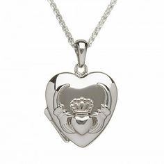 Sterling Silver Claddagh Heart Locket, $144.95. From Know your Claddagh from your Celtic Knot: Ultimate Guide to Irish Jewelry by TheIrishStore.com