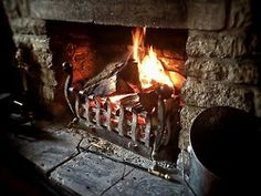 woodburning:  Pub fire earlier today.