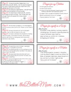 Organize Your Prayer Time {Happy Mother's Day! Free Printable Prayer Cards} - The Better Mom