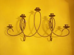 Home Interiors Five Arm Braided Metal Sconce by SashaAzreal on Etsy