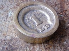 Brass Scale Weight / 1 LB / Paperweight by assemblage333 on Etsy, $18.00