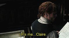 Outlander S03E05 - Jamie & Claire. Outlander Gifs, Serie Outlander, Diana Gabaldon, Starz Series, Tv Series, Contentment Quotes, Jamie And Claire, Jamie Fraser, Gorgeous Men